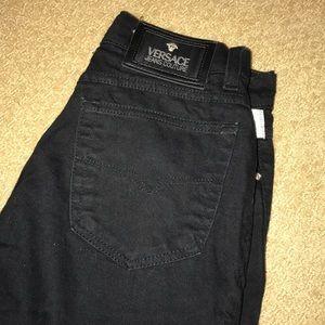 Black Versace Jeans high waist women's size 27/30.